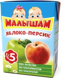 Нектар, Фрутоняня Малышам 200 мл яблоко персик с 5 мес